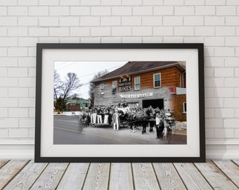 Fire Hall | Parry Sound 1907 & Now - Print #6 | Poster - Wall Art - Home Decor - Digital Print - Then/Now Photography