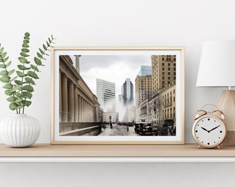 Union Station | Toronto 1930 & Now - Print #14 | Poster - Wall Art - Home Decor - Digital Print - Then/Now Photography