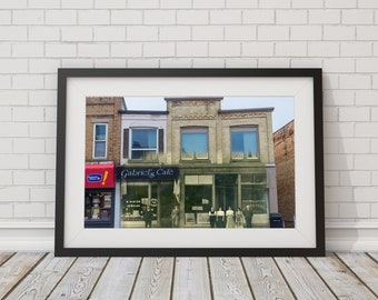 Yonge St. - Newspaper Office | Aurora 1900s & Now - Print #4 | Poster - Wall Art - Home Decor - Digital Print - Then/Now Photography