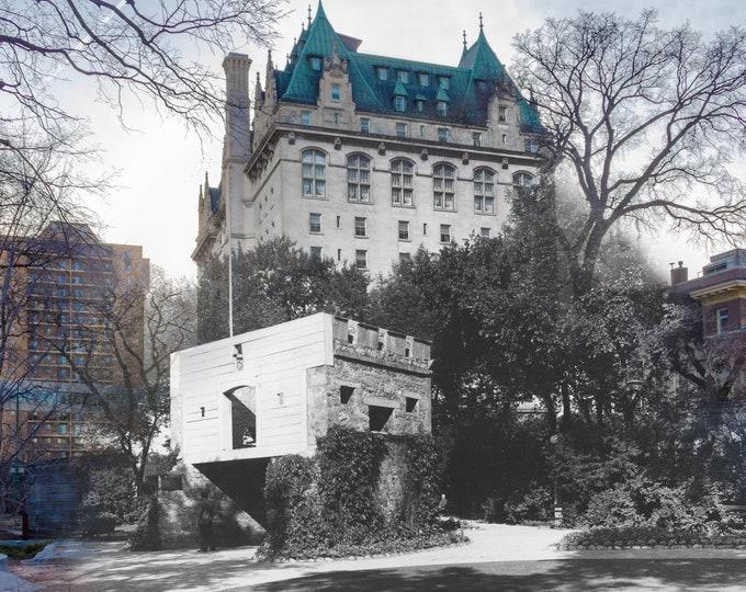 Fort Garry Hotel | Winnipeg 1930s & Now- Print #5 | Poster - Wall Art - Home Decor - Then/Now Photography