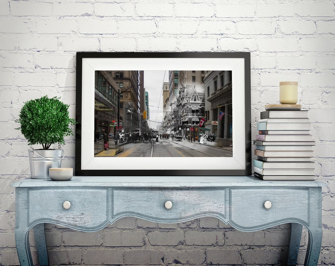 King Street - Yonge Street | Toronto 1904 & Now - Print #3 | Poster - Wall Art - Home Decor - Digital Print - Then/Now Photography