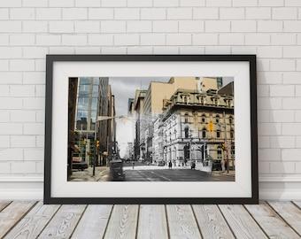 City Hall - Yonge Street | Toronto 1928 & Now - Print #15 | Poster - Wall Art - Home Decor - Digital Print - Then/Now Photography
