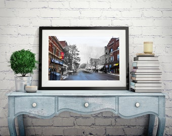 James Street | Parry Sound 1910s & Now - Print #10 | Poster - Wall Art - Home Decor - Digital Print - Then/Now Photography