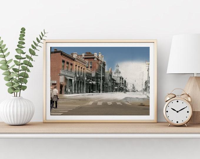 Yates Street - Douglas Street | Victoria 1900 & Now - Print #12 | Poster - Wall Art - Home Decor - Digital Print - Then/Now Photography