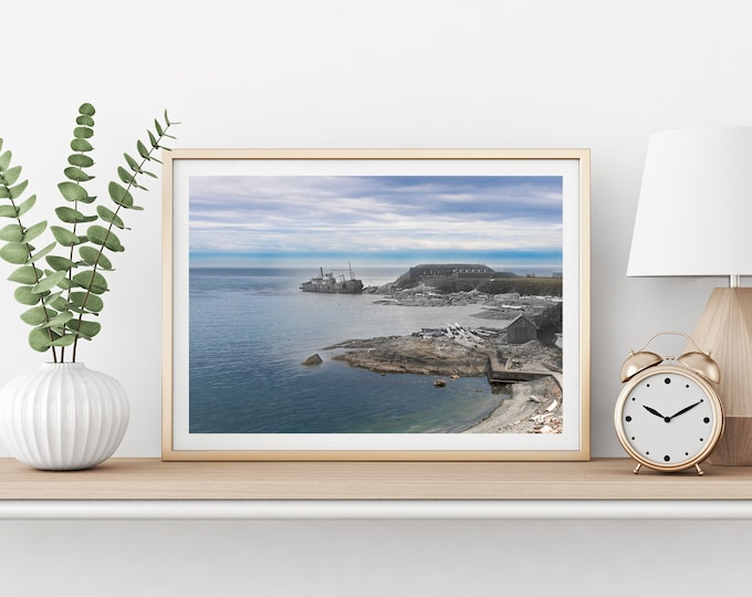 Clover Point - Shipwreck | Victoria 1914 & Now - Print #4 | Poster - Wall Art - Home Decor - Digital Print - Then/Now Photography