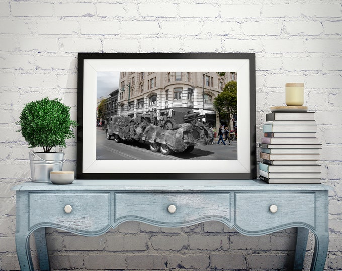 Government Steet - Parade | Victoria 1941 & Now - Print #6 | Poster - Wall Art - Home Decor - Digital Print - Then/Now Photography