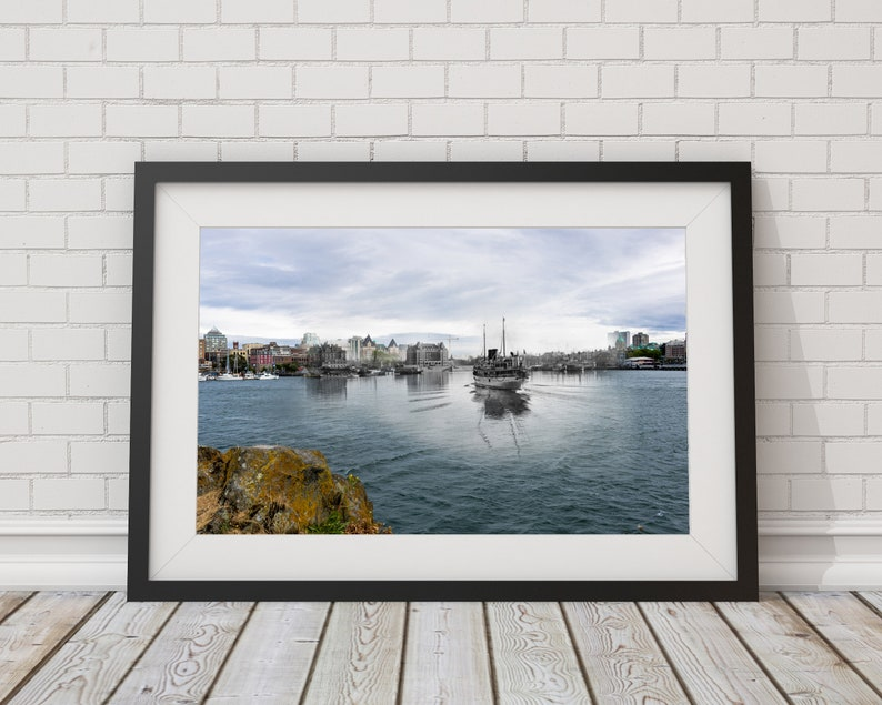 Beautiful Victoria Inner Harbour  1908 & Now  Poster  Wall image 0