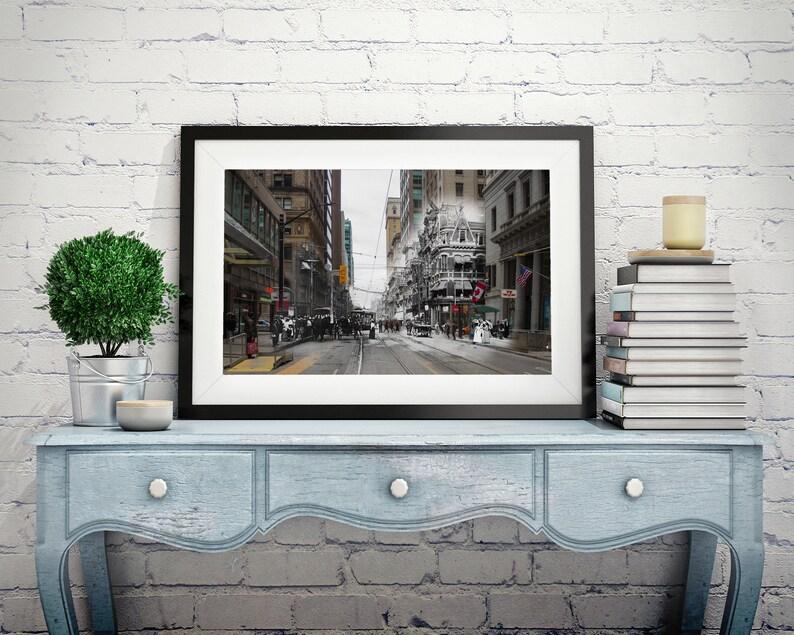King Street  Yonge Street  Toronto 1904 & Now  Print 3  image 0
