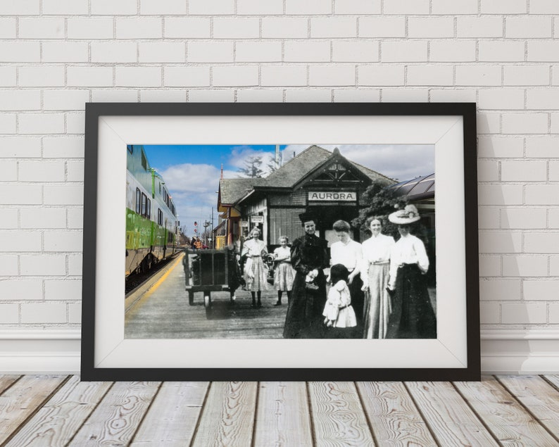 Train Station  Aurora 1900 & Now  Print 10  Poster  Wall image 0