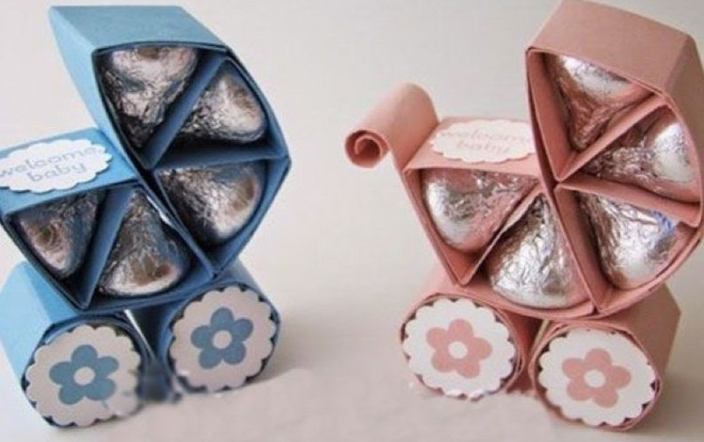 Baby Carriage Kisses Holder
