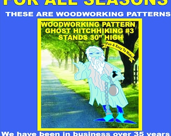 Ghost Hitchhiking Halloween 1 Woodworking Pattern Yard Art Etsy
