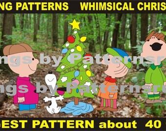 Yard Art Charlie Brown Carolers 9 Whimsical Christmas Woodworking Patterns