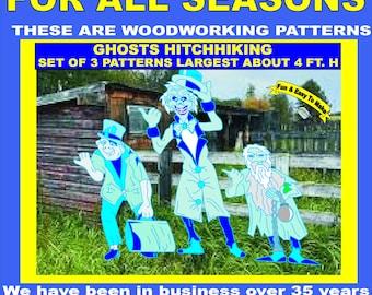 GHOSTS Hitch Hiking, 3 patterns in set, HALLOWEEN Woodworking Pattern,Yard Art by PATTERNSRUS