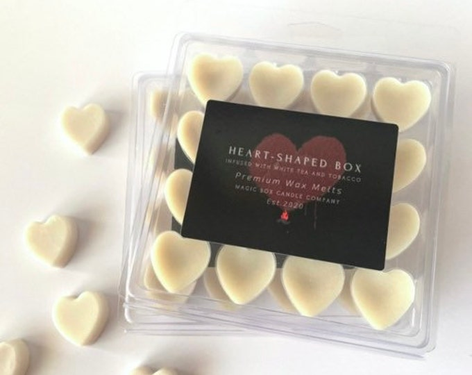 Featured listing image: Nirvana Heart-Shaped Box Scented Wax Melts  - White Tea and Tobacco