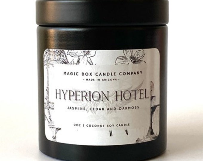 Featured listing image: Hyperion Hotel Scented Candle | Angel the Series | 90's | Buffyverse | Pop Culture