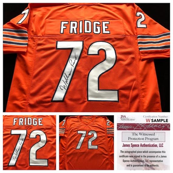 William Perry The Fridge Signed Autographed Orange | Etsy