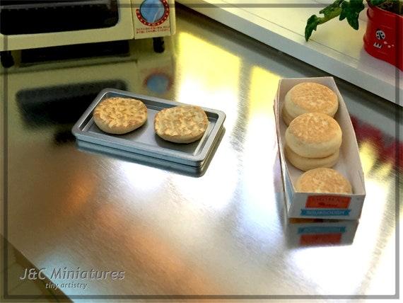 Barbie Doll 1:6 Kitchen Food Miniature Box English Muffins NO REAL FOOD