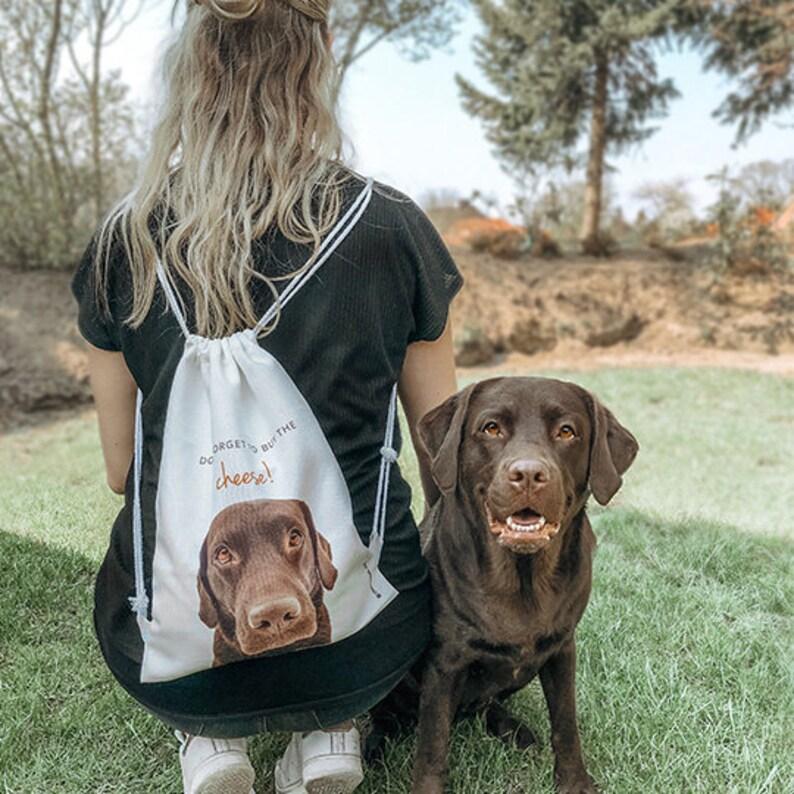 Hiking Backpack Gym Backpack Custom Dog Photo Canvas Drawstring Bag Picnic Backpack Custom Dog Backpack Personalized Drawstring Bag