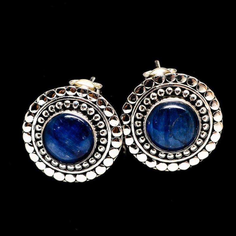 Sale 925 Sterling Silver Kyanite Jewelry Simple Kyanite Studs Kyanite Earrings Gift Wife Sis Mom Oval Studs 925 Silver Stud Earrings