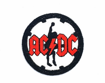 36f3218d4983a AC DC Australian Rock Band Iron on or Sew Hippie Collectible Canvas  Backpack Jacket Shirt Pants Patch