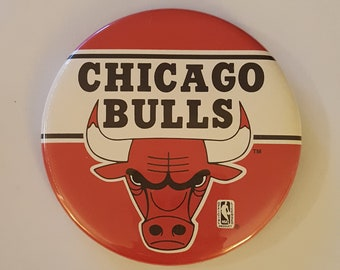 Sporting Goods On Grey Backing Chicago Bulls Nba Basketball Badge