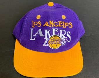 newest 09ed8 1884b Vintage NBA Los Angeles Lakers Basketball Kids Snapback Hat -- Vintage Kids Snapback  Hat