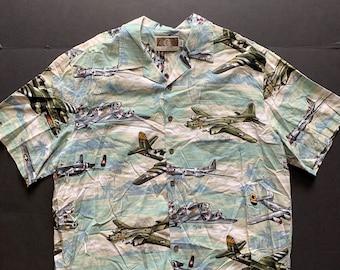 2623b573 Vintage 90s Military Bomber Planes Shirt -- Vintage Unisex Shirt