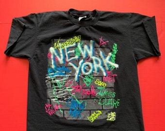 fff894314 Vintage New York City Graffiti Tshirt -- Vintage Unisex Tshirt