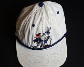 0469f1621b3 Vintage Looney Tunes Snap Back Hat -- Vintage Youth Snap Back Hat