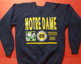 Vintage Notre Dame Fighting IRISH Green Shirt Made in USA | Etsy