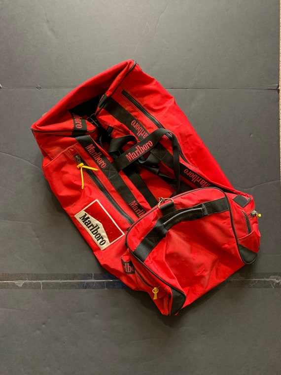 Vintage Marlboro XLarge Duffel Bag -- Vintage Duff