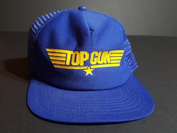 Vintage Top Gun Snapback Hat -- Vintage Snapback H