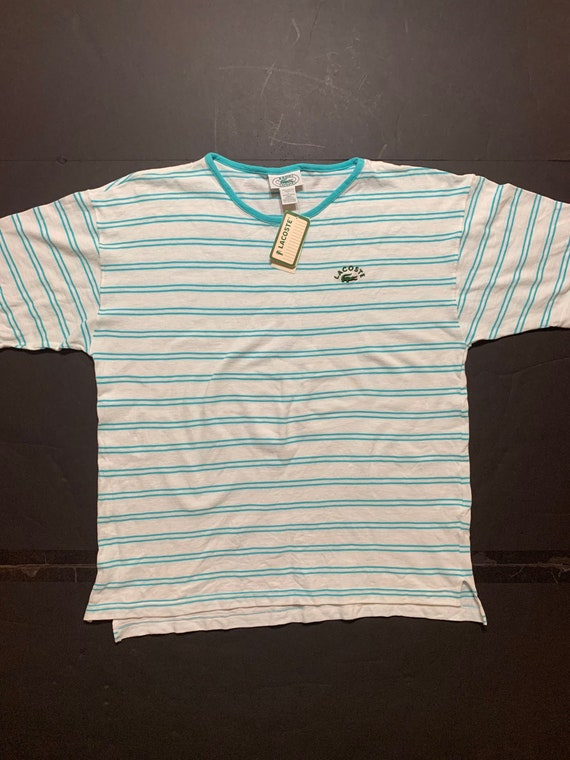 Vintage Lacoste Striped Tshirt -- Vintage Unisex T