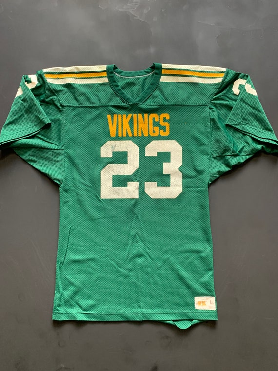 Vintage 70s Russell Vikings Football Jersey -- Vin