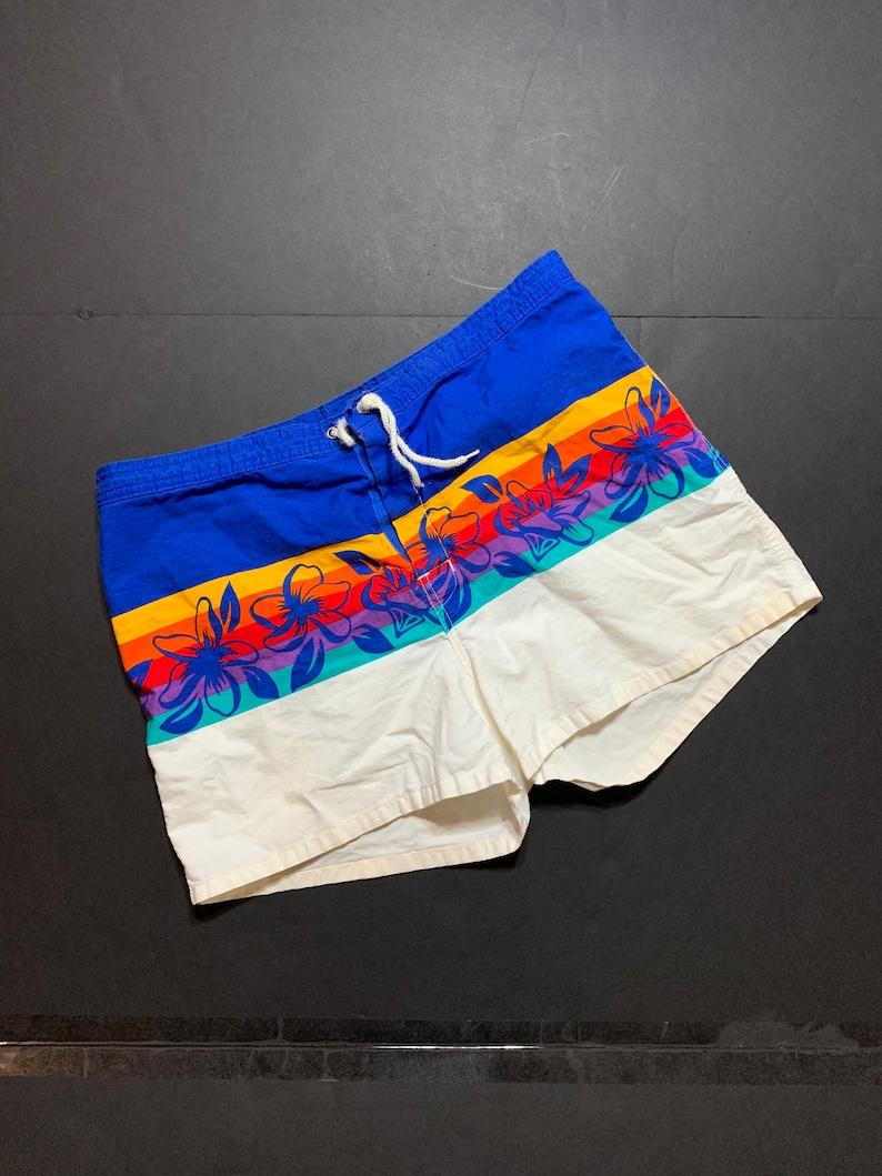 986a3b5d375f8 Vintage Hobie Swim Shorts Vintage Mens Swim Shorts | Etsy