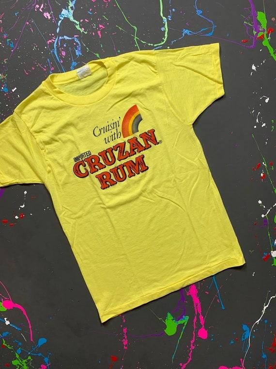 Vintage 80s Cruzan Rum Tshirt Size Medium