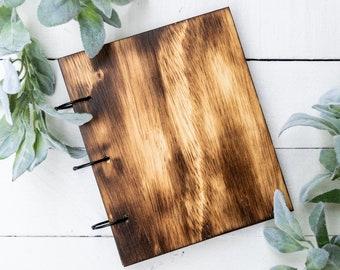 Wooden Photo Album, 4x6, Wood Burnt