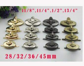 10-20sets 36*20mm SilverGun blackBrush antique woman bag purse lock locks