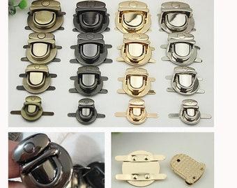 6pcs 4size 4color handbag Diy leather bags buckle lock 0950cd8d6affb