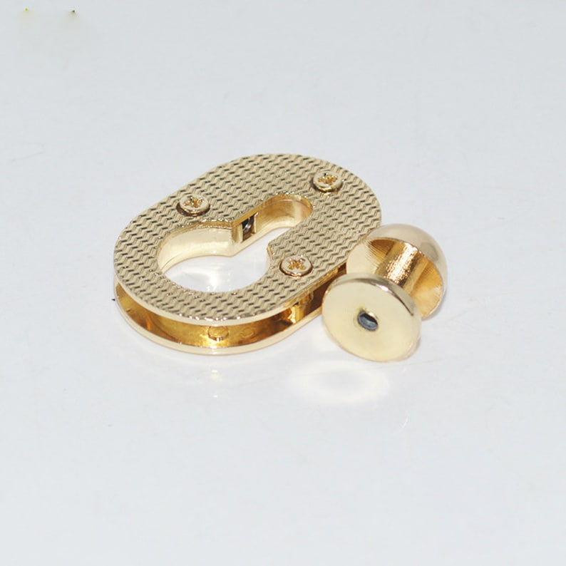 20pcs 39*26mm  oval lone circle  diy leather bag  purse screw  lock purse supplier hardware accessories  NFL-178