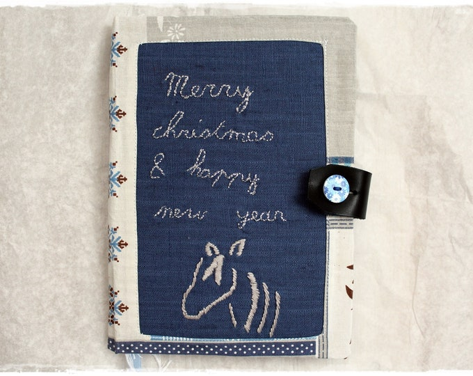 Featured listing image: Horse Lover Handcrafted Creative Notebook - Christmas Bullet journal - Diary