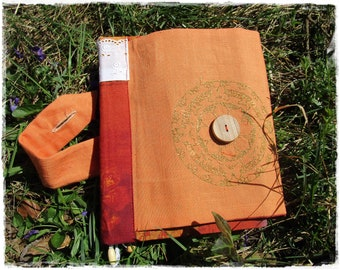 Ethnic memory book A5 with 250 dot pages, bullet journal, Free felt