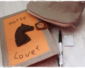 Creative Notebook - Bullet Journal Horse lover - Diary - Pencil Case and Small Pens