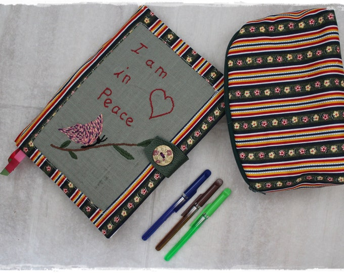 Featured listing image: Creative Notebook - Bullet Journal In Peace - Diary - Pencil Case and Small Pens