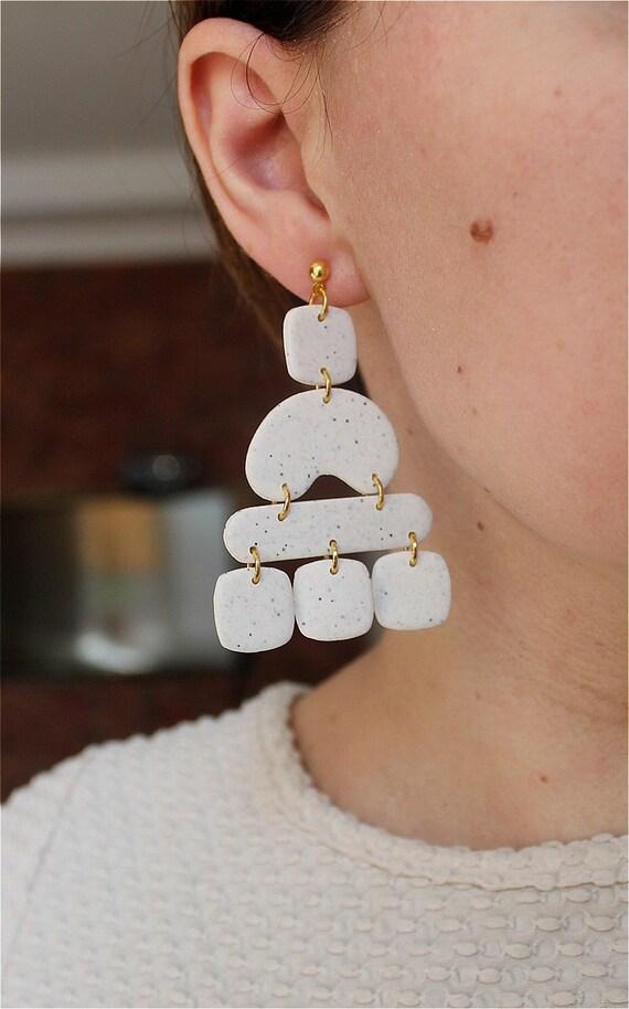 Custom Polymer Clay EarringsDelicate StyleLightweightCustomModern EarringsBeautifulSimplisticHandmade