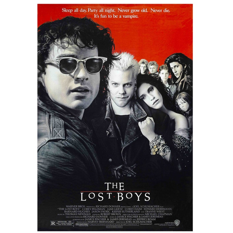 The Lost Boys Retro Movie Posters Downloadable Prints Printable Art Print  Your Own Instant Download Home Crafts Childrens Wall Decor