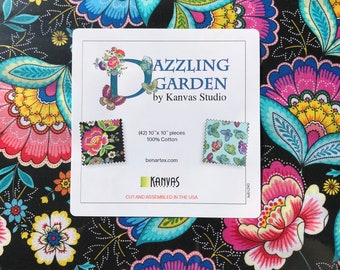 "Fabric Layer Cake Dazzling Garden by Kanvas Studio for Benartex - Fabric 10"" Squares"