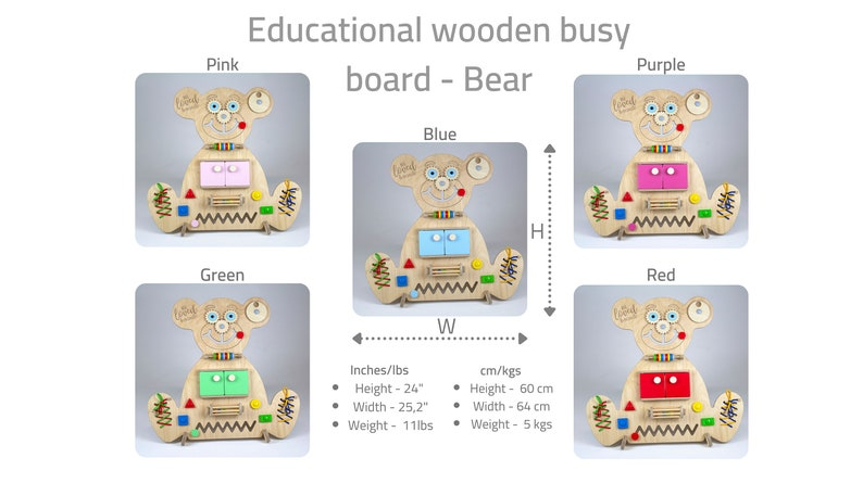 Personalized sensory board for children from 6 months