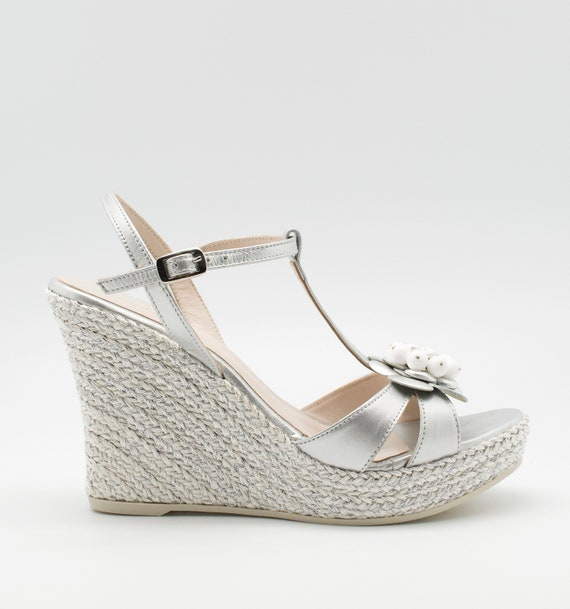 a634861818af Bridal sandal wedding wedge garden wedding sandal bohemian
