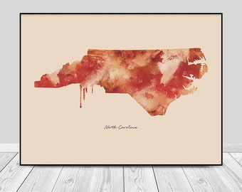 North Wilkesboro Nc Map.North Carolina Map Etsy